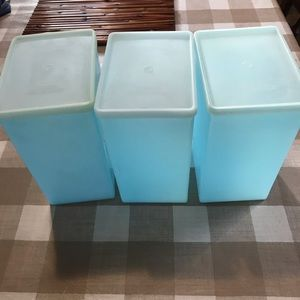 Vintage stackable Tupperware freezer containers